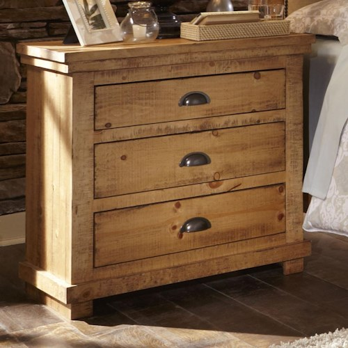 Distressed Pine Nightstand - Willow by Progressive Furniture ...