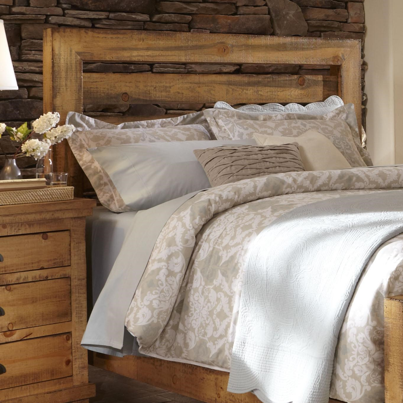 Good Progressive Furniture Willow Queen Slat Headboard With Distressed Pine Frame