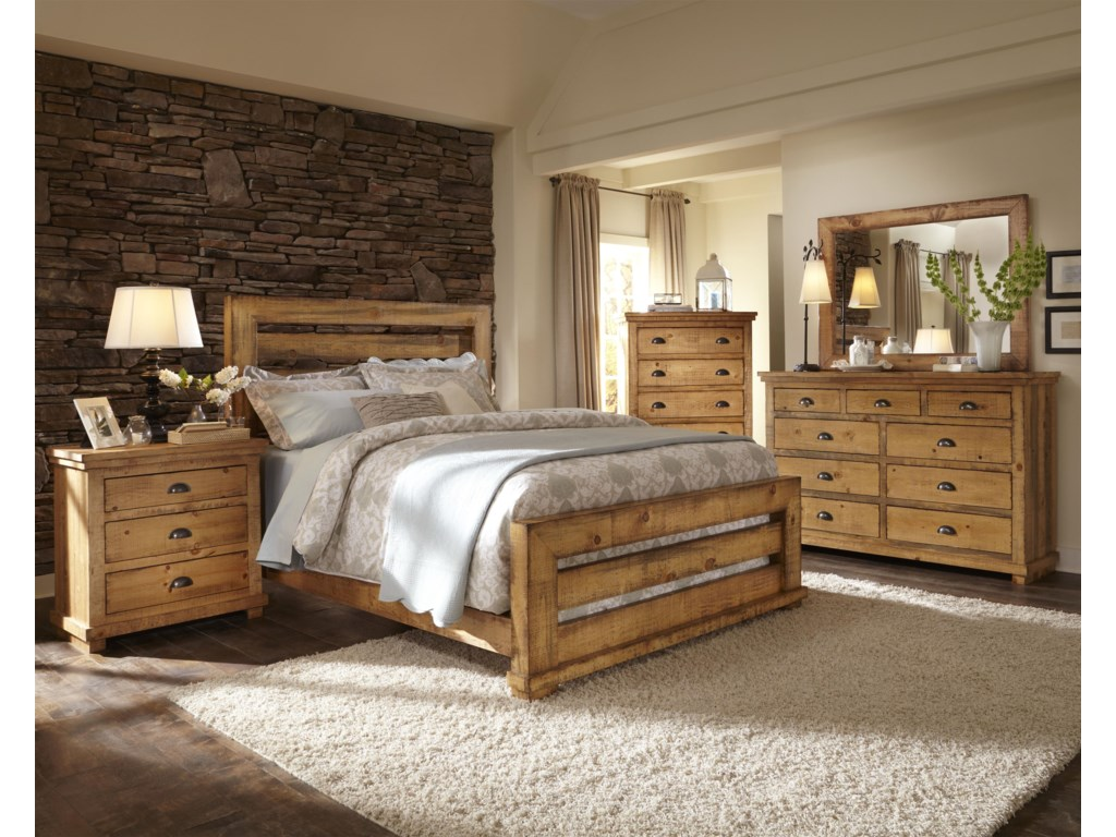 Progressive Furniture WillowCalifornia King Slat Bed