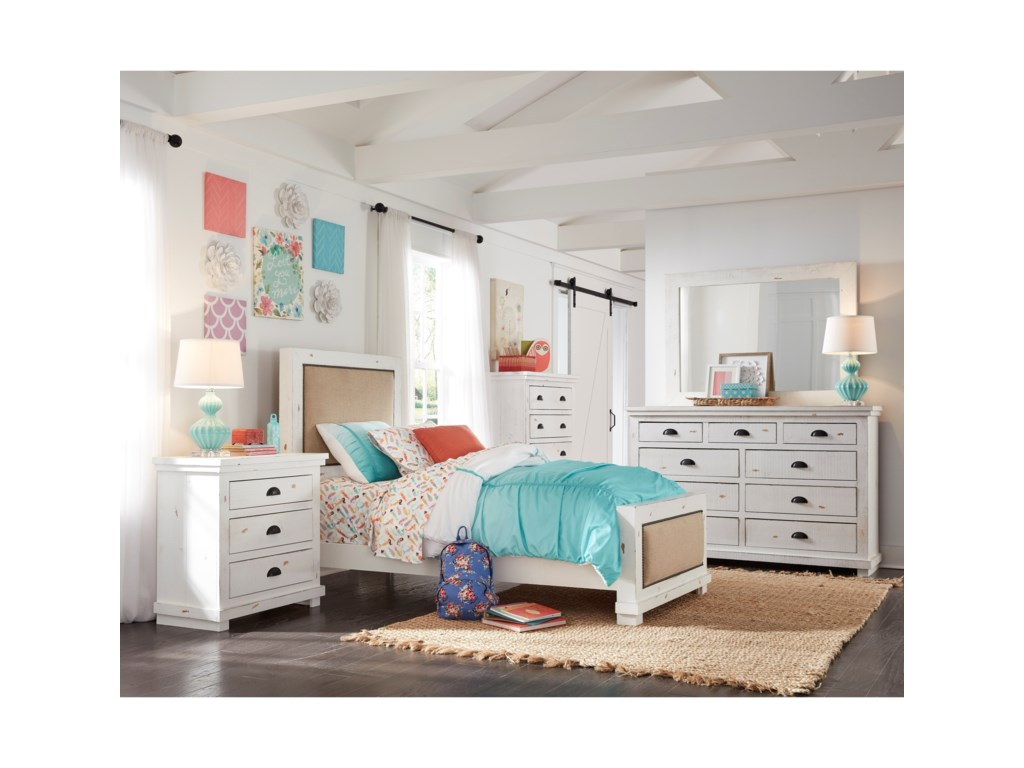 Progressive Furniture WillowTwin Upholstered Bed