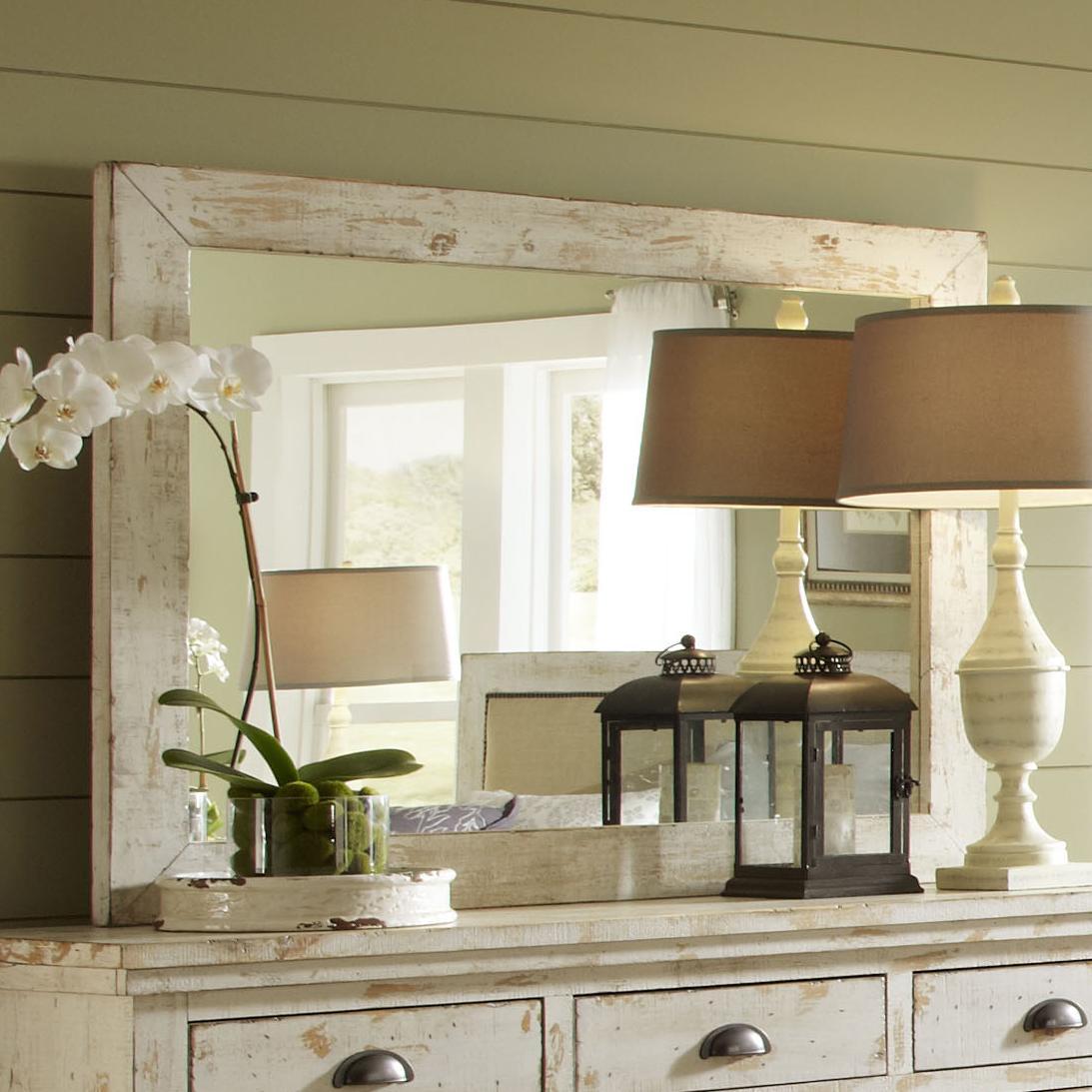 Progressive Furniture Willow Distressed Pine Mirror