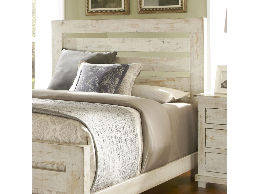 Progressive Furniture Willow Queen Slat Headboard with Distressed ...
