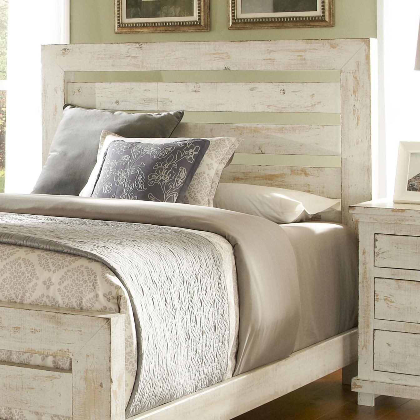 Progressive Furniture Willow Queen Slat Headboard With Distressed Pine Frame