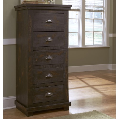 Progressive Furniture Willow Distressed Pine Lingerie Chest