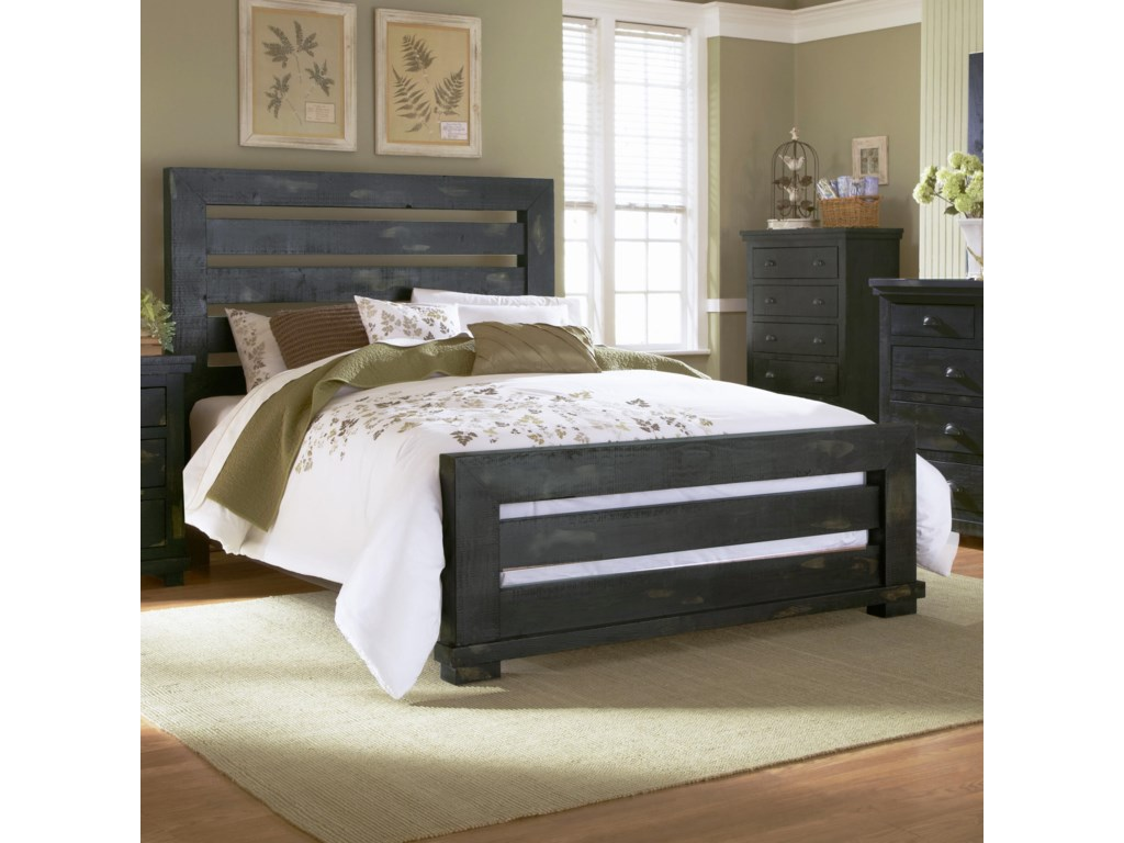Progressive Furniture WillowQueen Slat Bed
