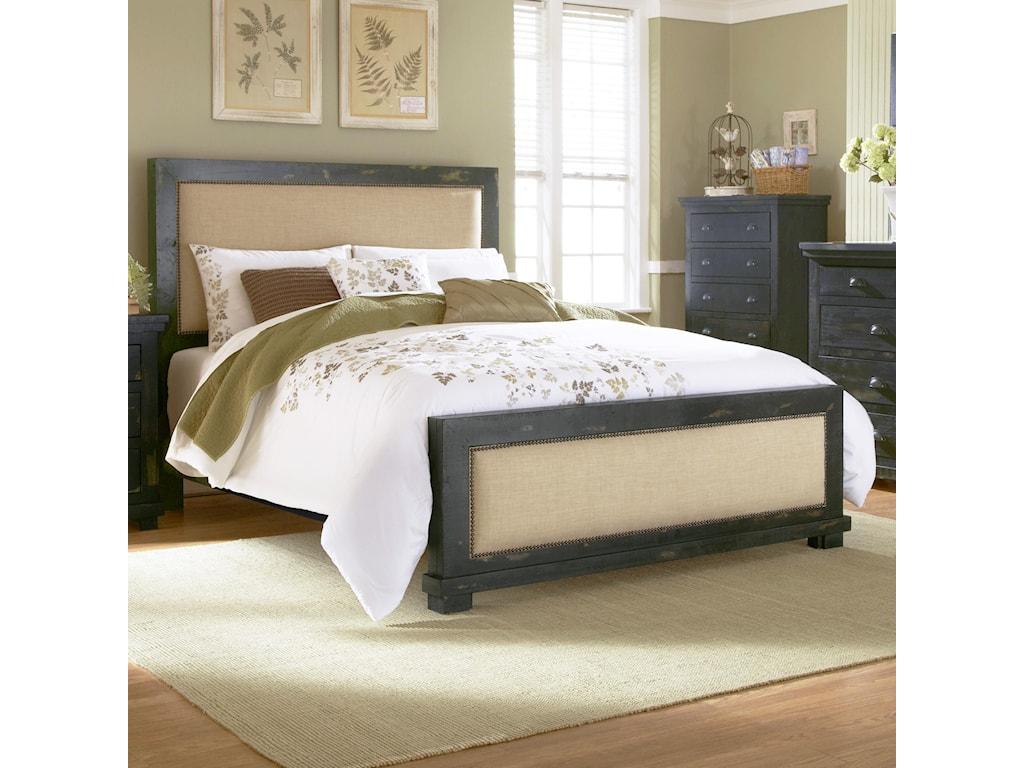 Progressive Furniture WillowKing Upholstered Bed