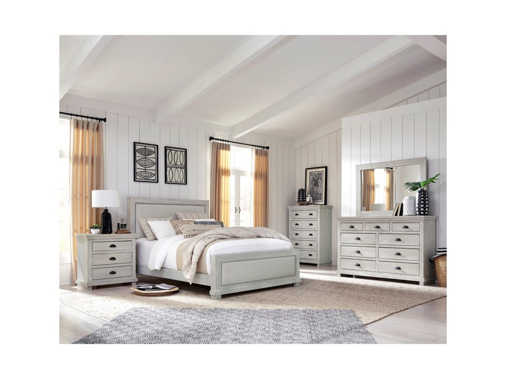 Progressive Furniture WillowCalifornia King Upholstered Bed