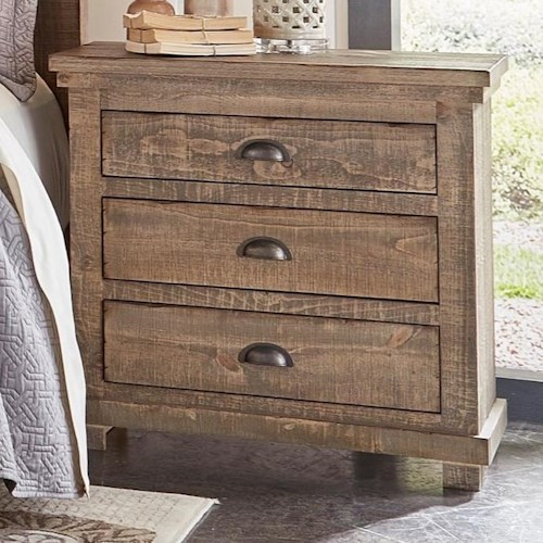 Progressive Furniture Willow Distressed Pine Nightstand