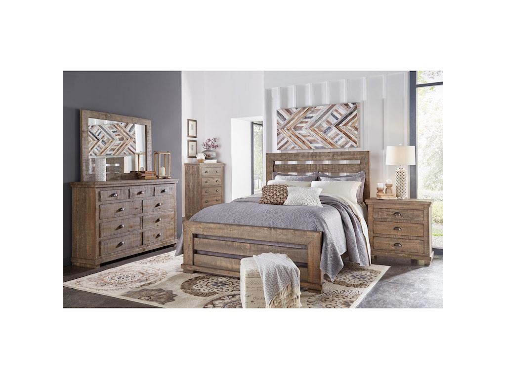 Progressive Furniture WillowKing Slat Bed