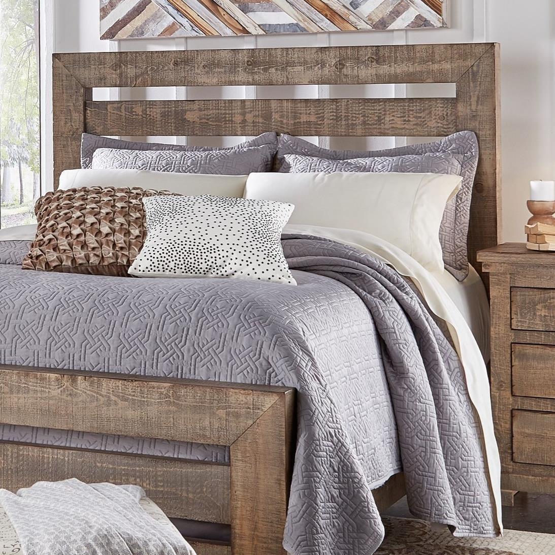 Progressive Furniture Willow King Slat Headboard With Distressed Pine Frame