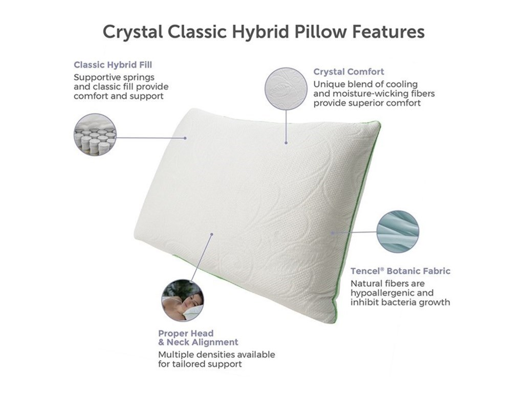 Protect-a-Bed Classic Crystal Hybrid PillowQueen Firm Down Alternative Hybrid Pillow