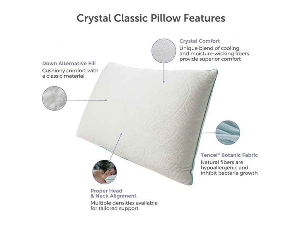 Protect-a-Bed Classic Crystal PillowQueen Firm Crystal, Down Alternative Pillow