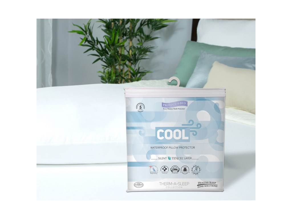 Protect-a-Bed Cool Tencel Pillow CoverQueen Cool Moisture-Wicking Pillow Cover