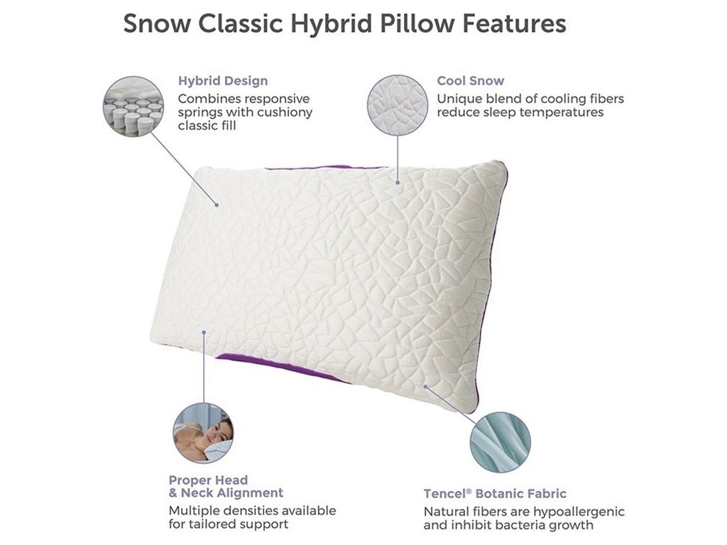 Protect-a-Bed Snow Classic Hybrid Cooling PillowQueen Snow Hybrid FIRM Pillow