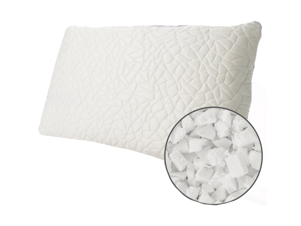 Protect-a-Bed Snow Foam Cluster Cooling PillowQueen Snow Memory Foam Cluster MEDIUM Pillow