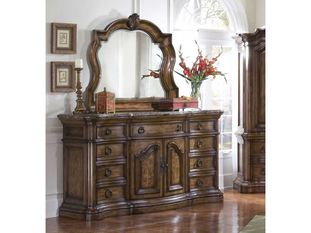 Pulaski Furniture San MateoCarved Frame Dresser Mirror