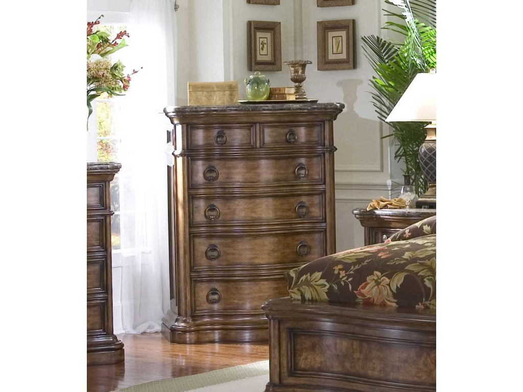 Pulaski Furniture San MateoMarble Top Drawer Chest