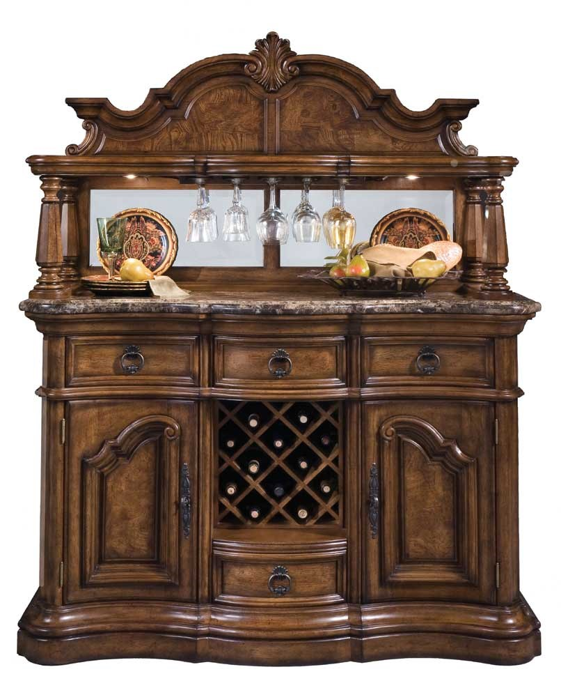 Marble Top Sideboard with Wine Storage