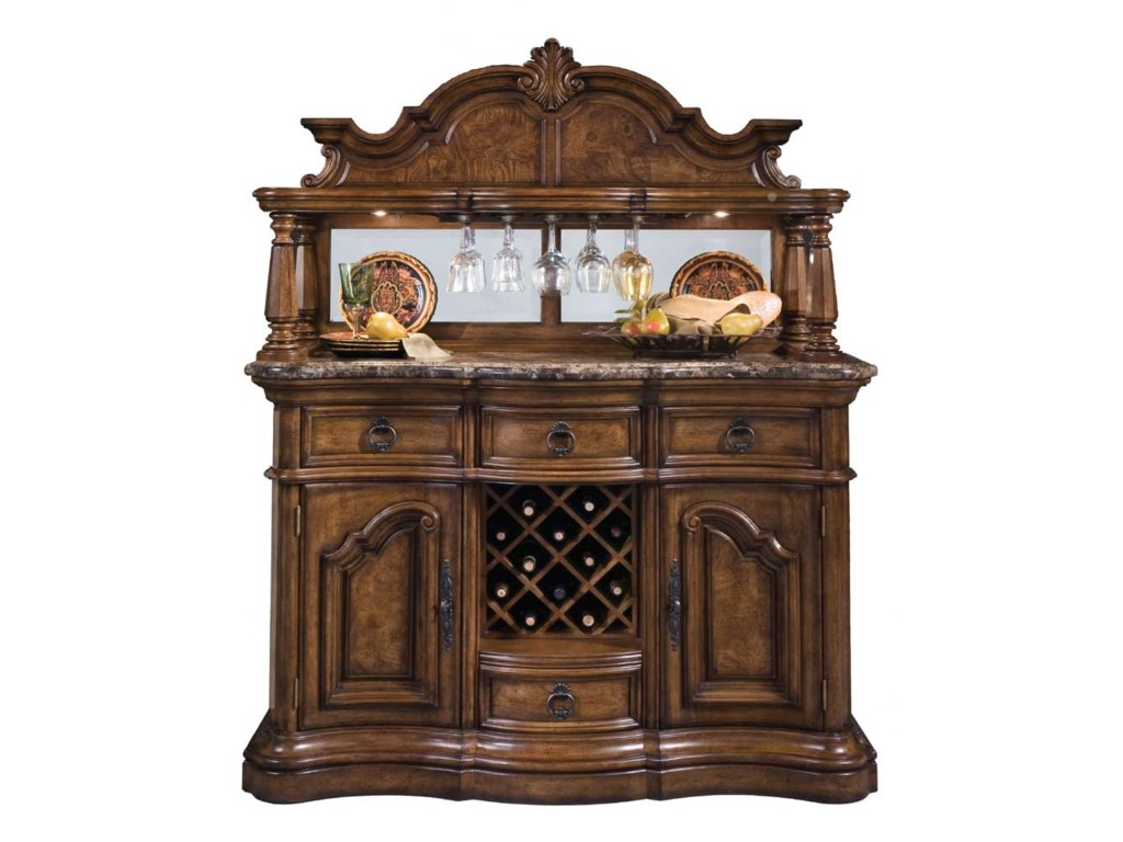 Pulaski Furniture San MateoMarble Top Sideboard and Hutch