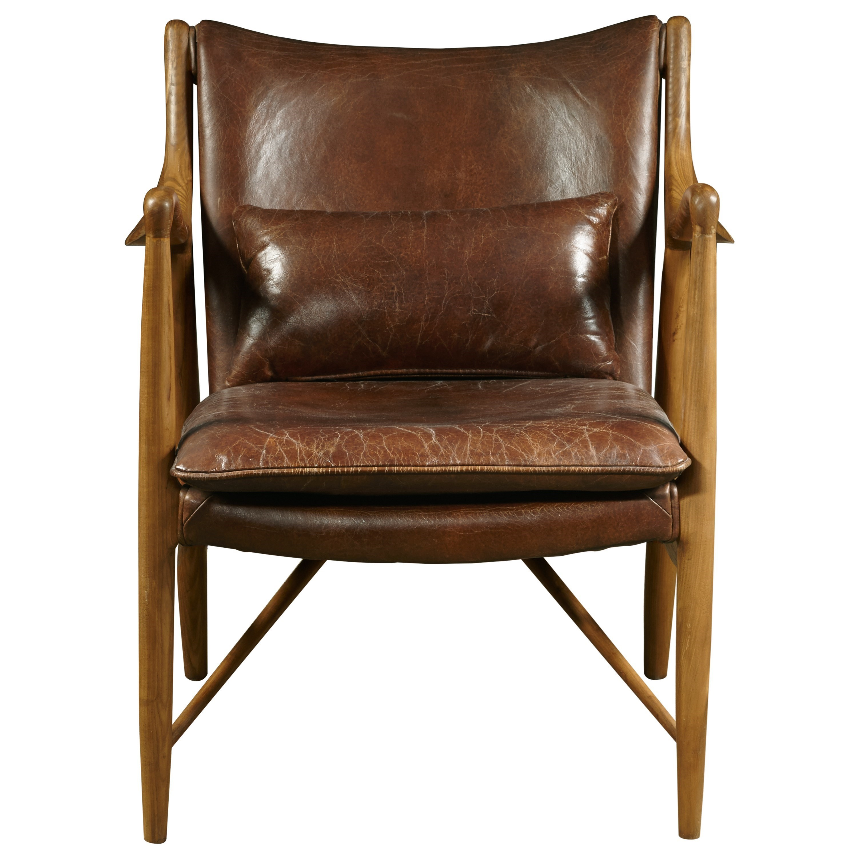 Pulaski Furniture Accent Chairs Anderson Chair In Brandy Leather