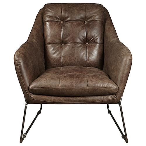 Pulaski Furniture Accent Chairs  Clara Chair in Mocha Leather