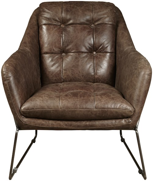Pulaski Furniture Accent Chairs  Clara Chair in Mocha Leather