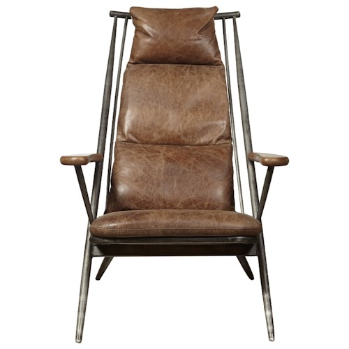 Pulaski Furniture Accent Chairs  Brenna Chair in Chestnut Leather