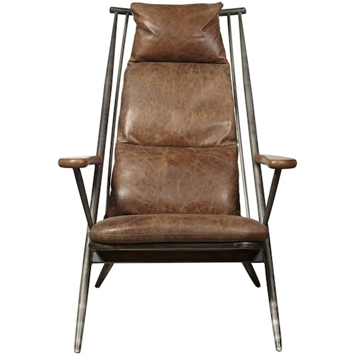 Pulaski Furniture Accent Chairs  Brenna Chair in Chestnut Leather