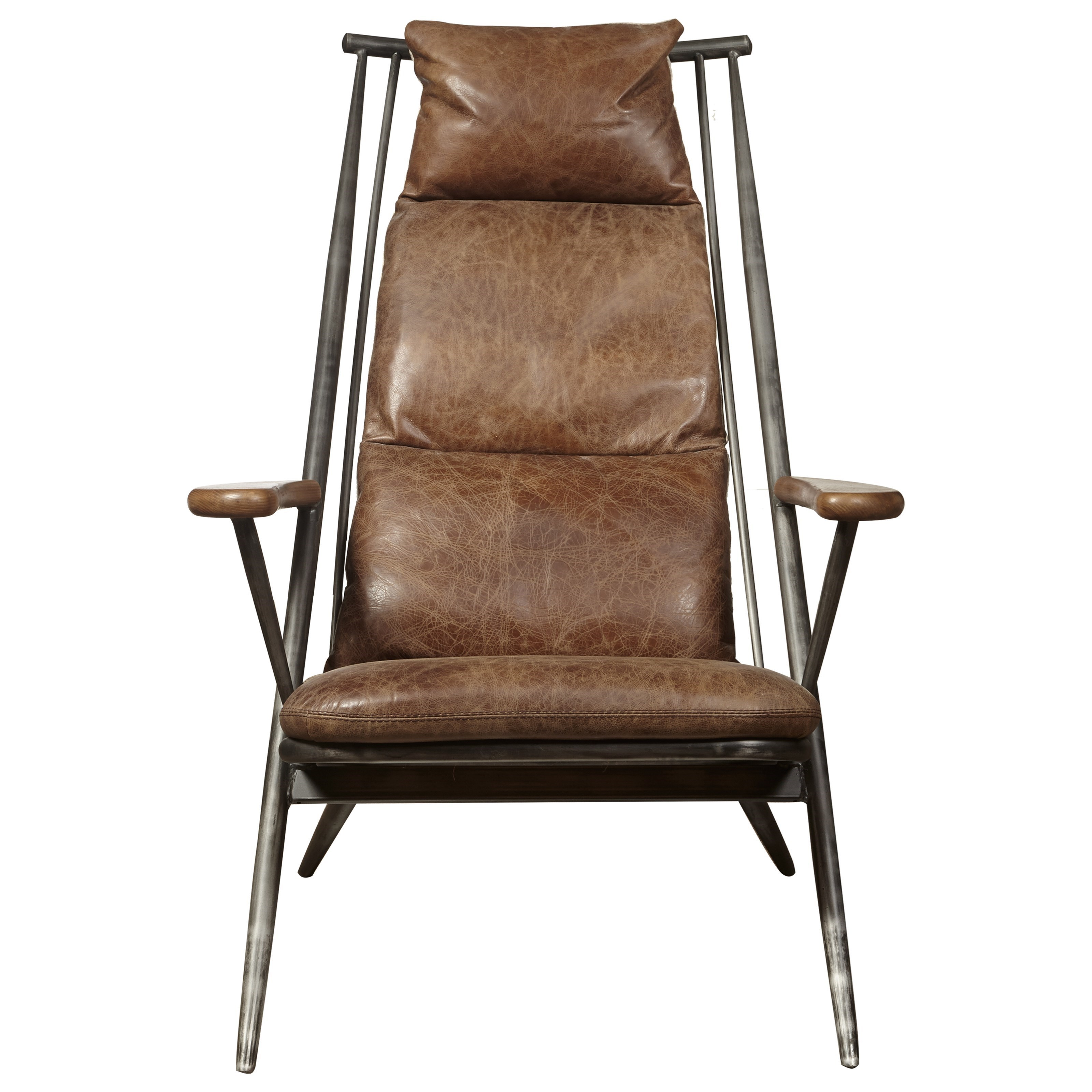 Pulaski Furniture Accent Chairs P006204 Brenna Chair In Chestnut Leather |  John V Schultz Furniture | Upholstered Chairs