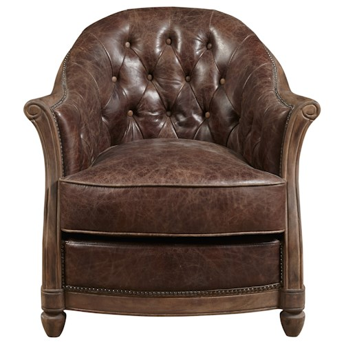 Pulaski Furniture Accent Chairs  Andrew Chair with Button Tufted Back