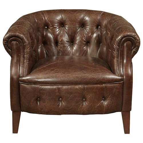 Pulaski Furniture Accent Chairs  Richard Arm Chair in Coffee Leather