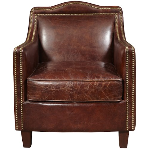 Pulaski Furniture Accent Chairs  Danielle Arm Chair with Nail Head Trim