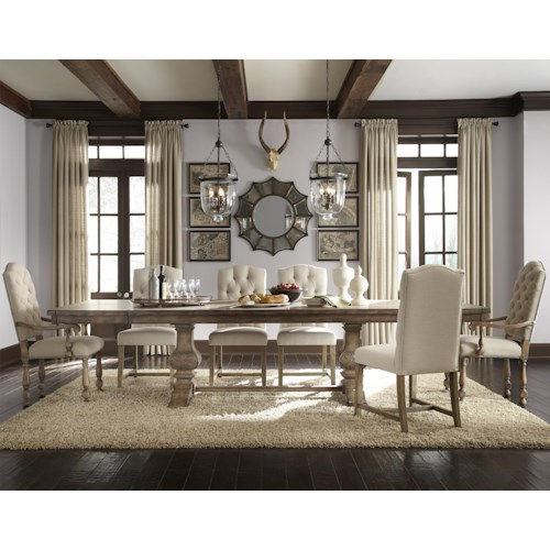 Pulaski Furniture Accentrics Home 7 Piece Desdemona Table with Zoie & Amathea Dione Chairs