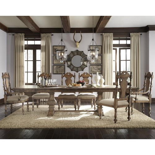 Pulaski Furniture Accentrics Home 7 Piece Desdemona Table & Kyra Upholstered Chairs Set