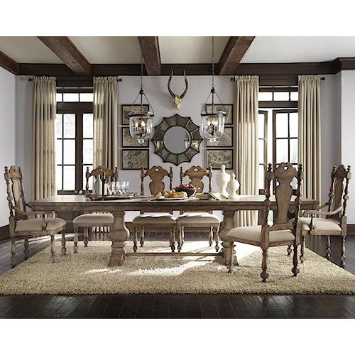 Pulaski Furniture Accentrics Home 7 Piece Desdemona Table & Kyra Upholstered Chairs Set