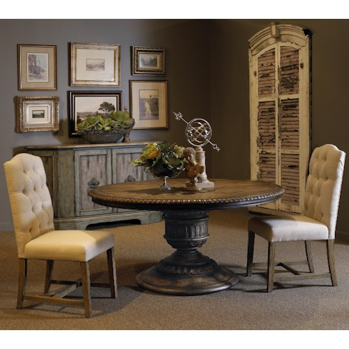 Pulaski Furniture Accentrics Home 3 Piece Daphne Table & Zoie Side Chair Set