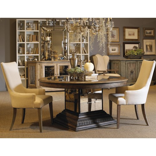 Pulaski Furniture Accentrics Home 3 Piece Aphrodite Table & Zona Arm Chair Set