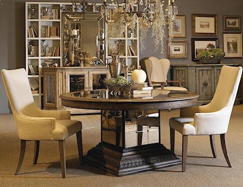 Pulaski Furniture Accentrics Home 3 Piece Aphrodite Table & Zona Arm Chair Set