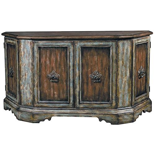 Pulaski Furniture Accentrics Home Monaco Credenza w/ Plank Top