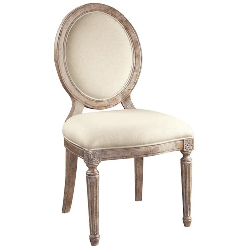 Pulaski Furniture Accentrics Home Anthousa Side Chair with Linen Upholstered Seat