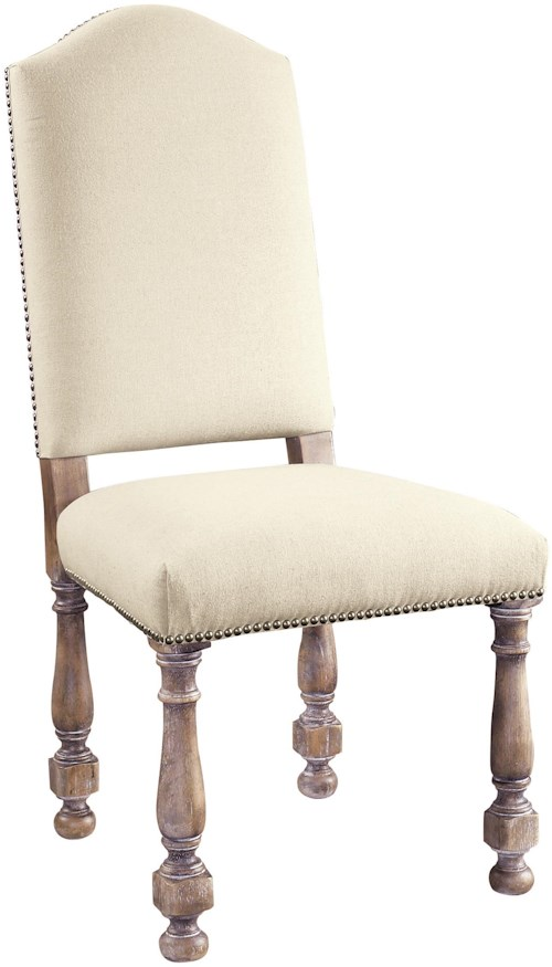 Pulaski Furniture Accentrics Home Amethea Dione Side Chair with Linen Upholstered Seat