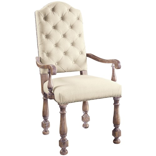 Pulaski Furniture Accentrics Home Amethea Dione Arm Chair with Linen Upholstery