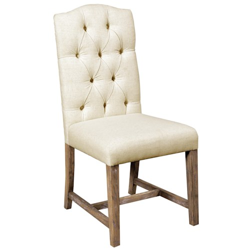 Pulaski Furniture Accentrics Home Zoie Side Chair with Linen Upholstered