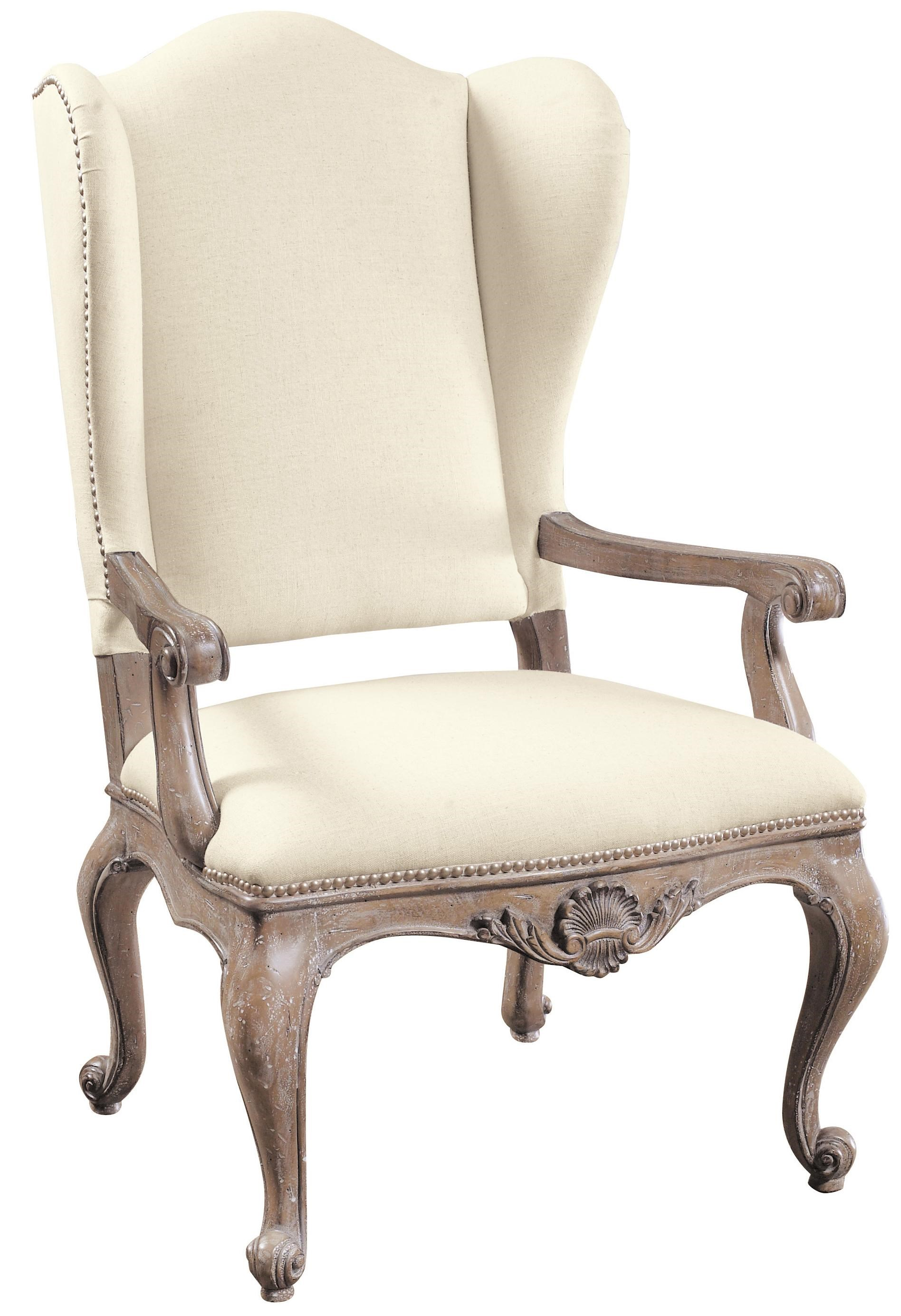 Pulaski Furniture Accentrics Home Danae Arm Chair With Cream Linen  Upholstery