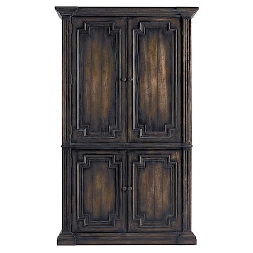 Pulaski Furniture Accentrics Home Capri Armoire w/ Crown Molding