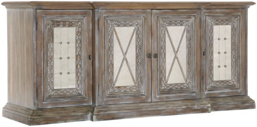 Pulaski Furniture Accentrics Home Entertainment Console w/ Mirrored Doors
