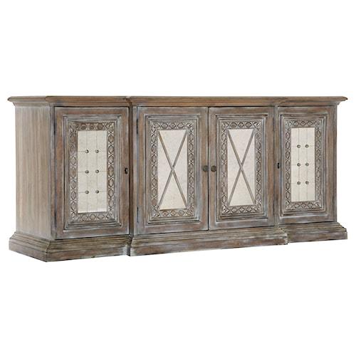 Pulaski Furniture Accentrics Home Entertainment Console w/ Mirrored Doors