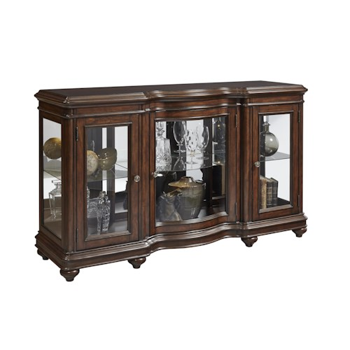 Pulaski Furniture Accents Harley Console W/ Glass Doors