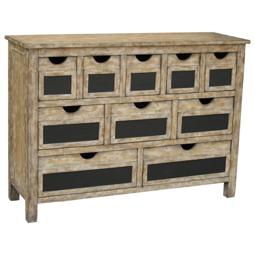 Pulaski Furniture Accents Parsons Accent Chest with Chalkboard Drawer Fronts