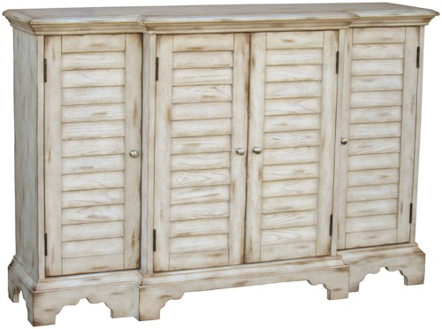 Pulaski Furniture Accents White Wilton Console with Shutter-Effect Panels